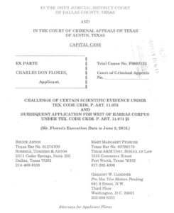 2016 Charles Don Flores Final Appeal